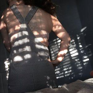 Checkered overalls